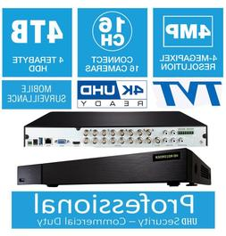Qsee QTH165-2 OEM 16 Channels 4K UHD 4MP 4TB HDD Long Time R