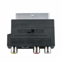 RGB SCART to Composite RCA S-Video AV TV Audio Adapter For V