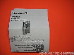 rr dr60 digital ic recorder printed operating