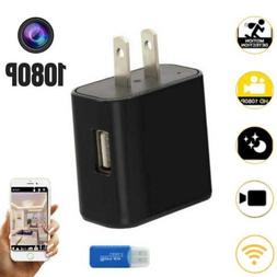 SPY WiFi Hidden Camera Wall Charger Infrared Remote Recorder