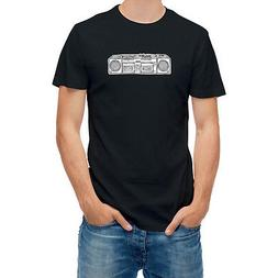 T shirt Old Tape Recorder Hand Drawn Pen Sketch T24968