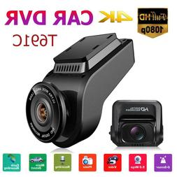 "T691C 2"" 4K 2160P FHD Dash Cam Dual Lens Car DVR Camera Vide"