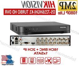 Hikvision TurboHD 2MP 16CH Hybrid DVR/XVR DS-7216HGHI-K1 + 2