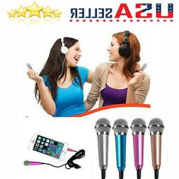 US 3.5mm Mini Portable Microphone Karaoke Stereo Sound Recor