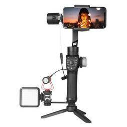 US Foldable Handheld Gimbal Smartphone Stabilizer For IPhone