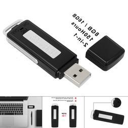 USB Mini Voice Recorder Digital Spy Record 16GB Small Drive