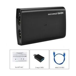 USB3.0 HDMI Video Game Capture Recorder for Full HD TV 1080p