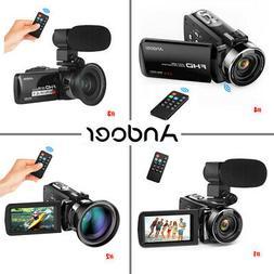 Andoer Digital Video Recorder Camera Camcorder Full HD Optio