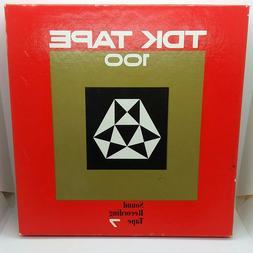 "Vintage TDK 100-7 370m  Sound Recording Reel-to-Reel Tape 7"""