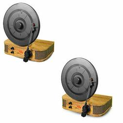 Pyle Vintage Style Vertical/Standing Bluetooth Turntable Rec