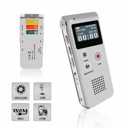 Voice Recorder, Digital Voice Recorder, MP3 Dictaphone with