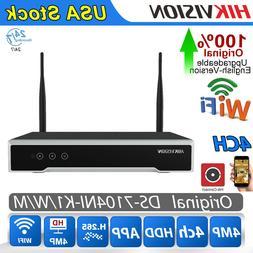 Hikvision WIFI NVR 4CH DS-7104NI-K1/W/M HD H.265 HDMI VGA Ne